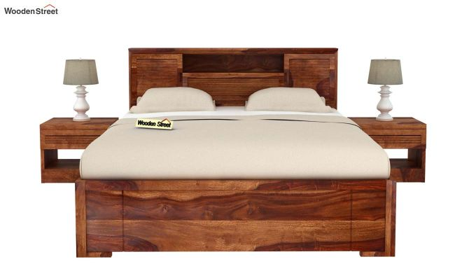Ferguson Bed Without Storage (Queen Size, Teak Finish)-3
