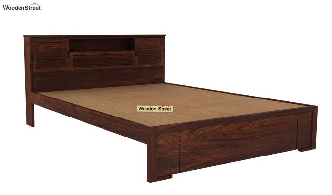 Ferguson Bed Without Storage (Queen Size, Walnut Finish)-4