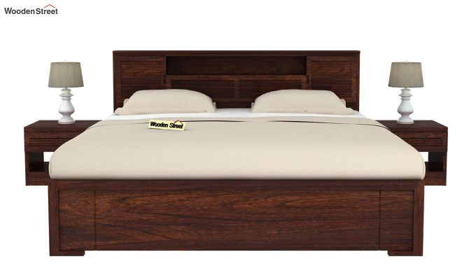 Ferguson Bed Without Storage (King Size, Walnut Finish)-3