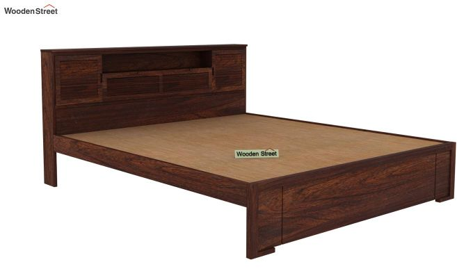 Ferguson Bed Without Storage (King Size, Walnut Finish)-4