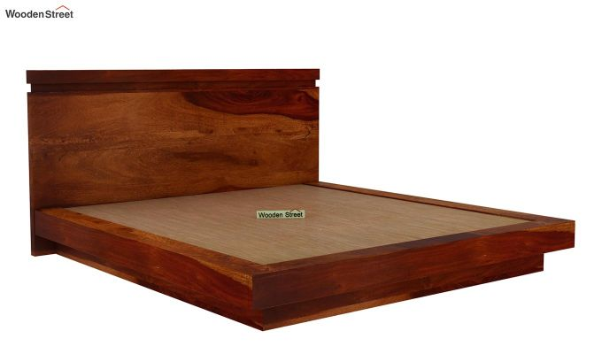 Florian Bed Without Storage (King Size, Honey Finish)-4