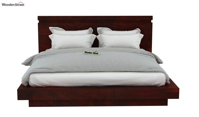 Florian Bed Without Storage (Queen Size, Mahogany Finish)-6