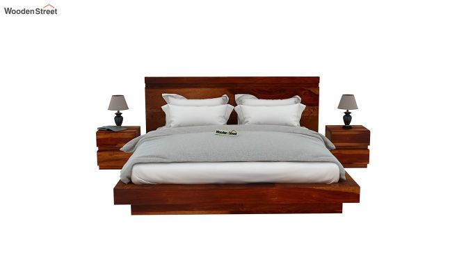 Florian Bed Without Storage (Queen Size, Honey Finish)-3