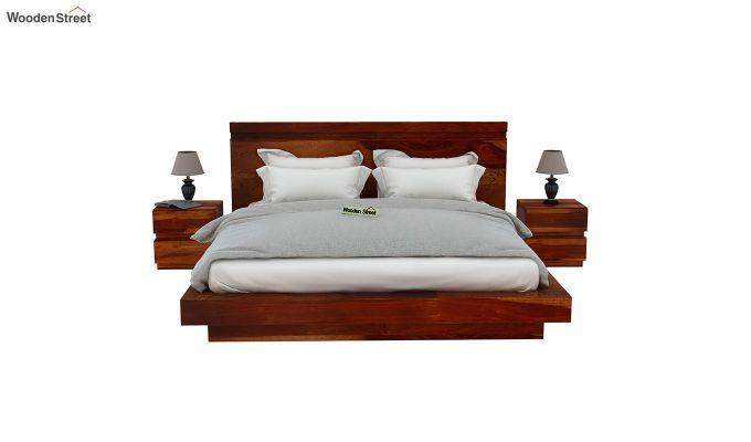 Florian Bed Without Storage (King Size, Honey Finish)-3