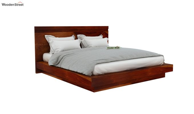Florian Bed Without Storage (Queen Size, Honey Finish)-4