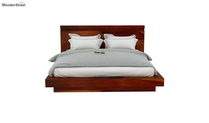 Florian Bed Without Storage (Queen Size, Honey Finish)-5