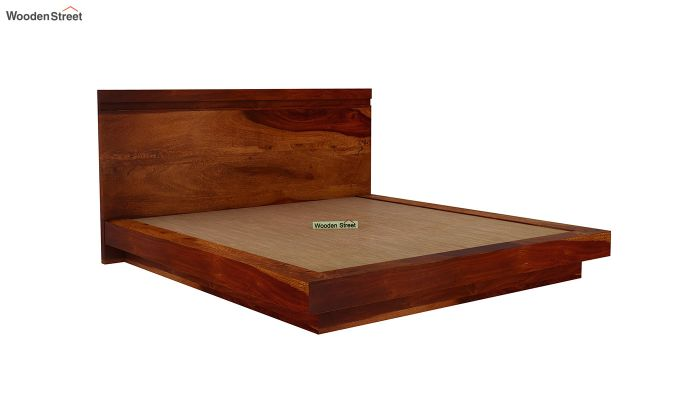Florian Bed Without Storage (King Size, Honey Finish)-6