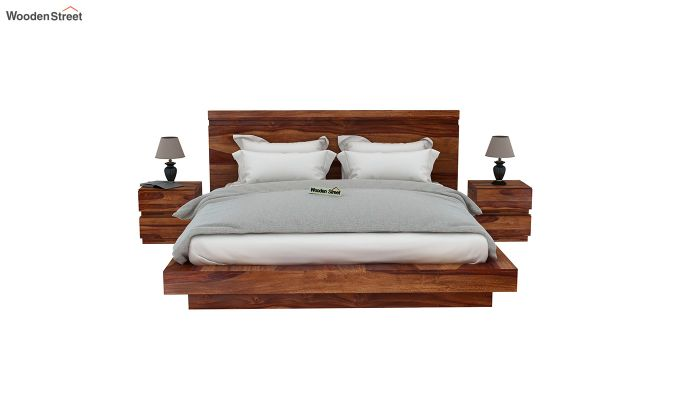 Florian Bed Without Storage (King Size, Teak Finish)-3