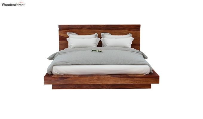 Florian Bed Without Storage (King Size, Teak Finish)-5