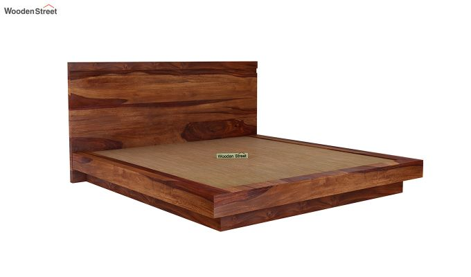 Florian Bed Without Storage (King Size, Teak Finish)-6