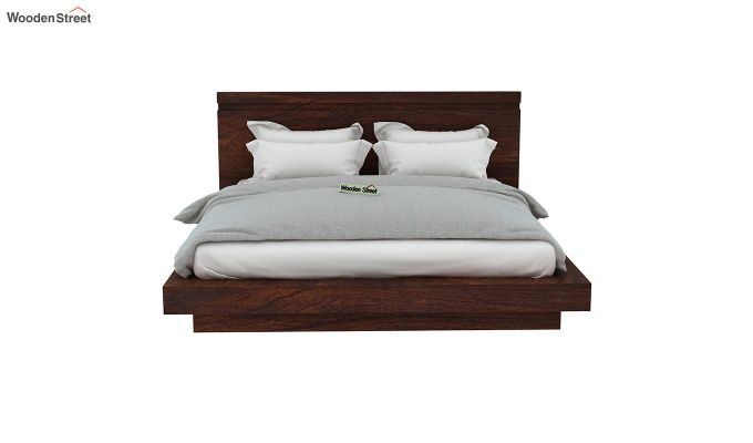 Florian Bed Without Storage (King Size, Walnut Finish)-5