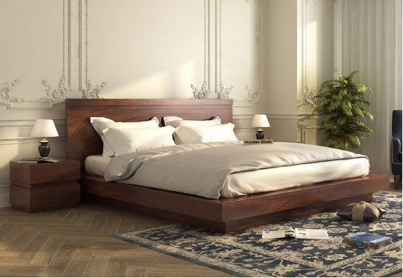 Low Floor Sheesham Wood King Bed in Mumbai, wooden platform bed