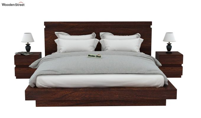 Florian Bed Without Storage (King Size, Walnut Finish)-3