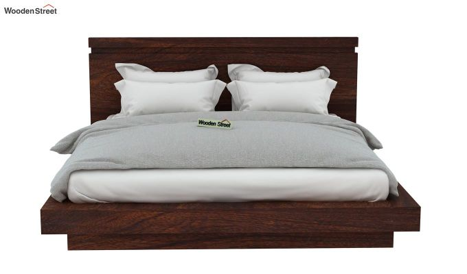 Florian Bed Without Storage (King Size, Walnut Finish)-6