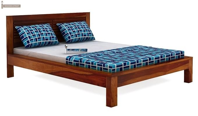 Gayle Bed Without Storage (King Size, Honey Finish)-3