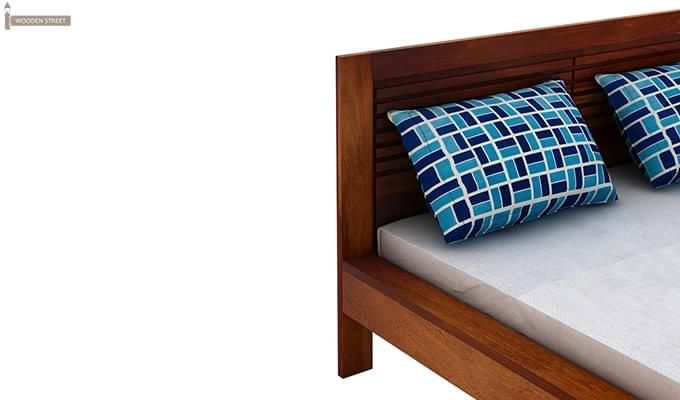 Gayle Bed Without Storage (King Size, Honey Finish)-5