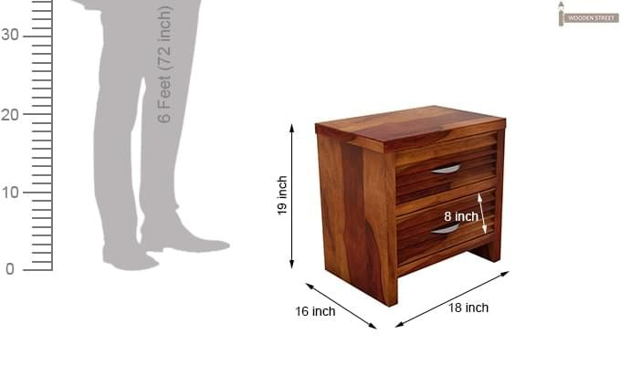 Gayle Bedside Table (Honey Finish)-5