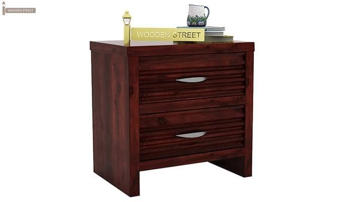 Gayle Bedside Table (Mahogany Finish)-2
