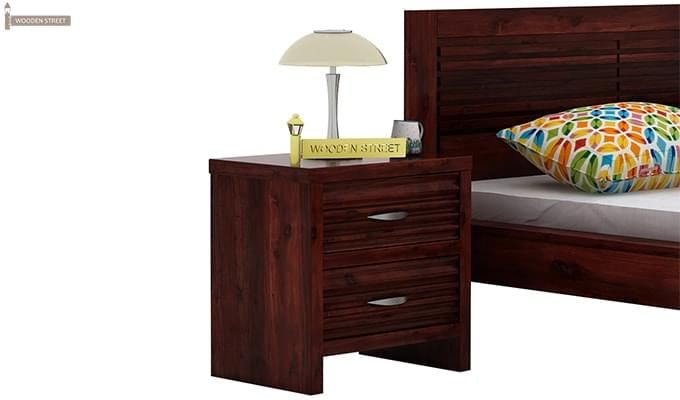 Gayle Bedside Table (Mahogany Finish)-1