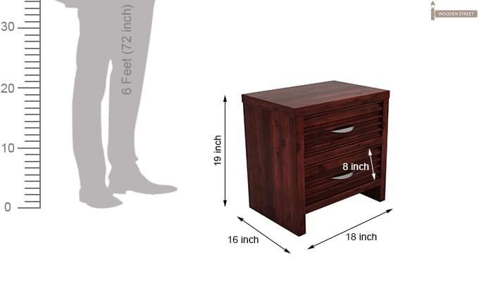 Gayle Bedside Table (Mahogany Finish)-6