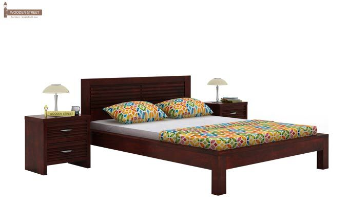 Gayle Bed Without Storage (King Size, Mahogany Finish)-1