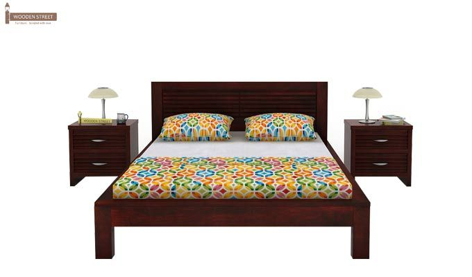 Gayle Bed Without Storage (King Size, Mahogany Finish)-2