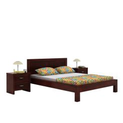Gayle Bed Without Storage (Queen Size, Mahogany Finish)