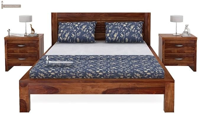 Gayle Bed Without Storage (King Size, Teak Finish)-3