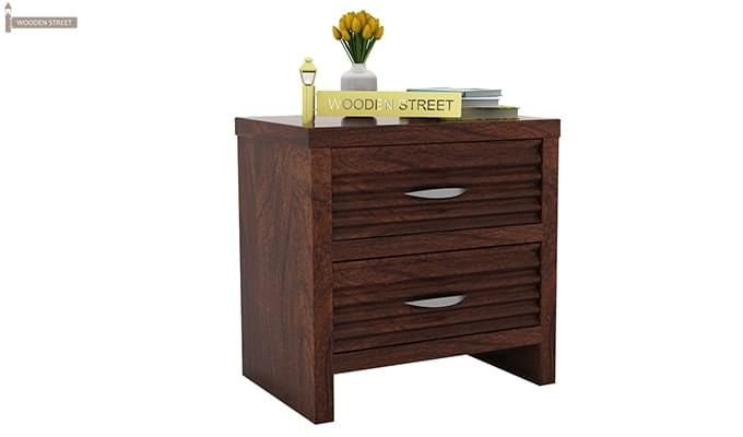 Gayle Bedside Table (Walnut Finish)-2