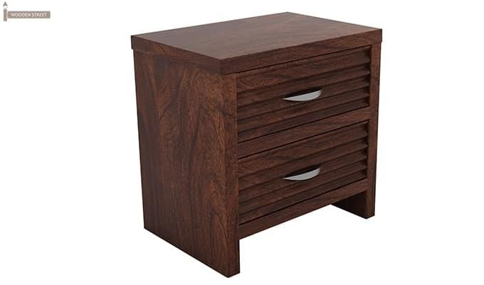Gayle Bedside Table (Walnut Finish)-3
