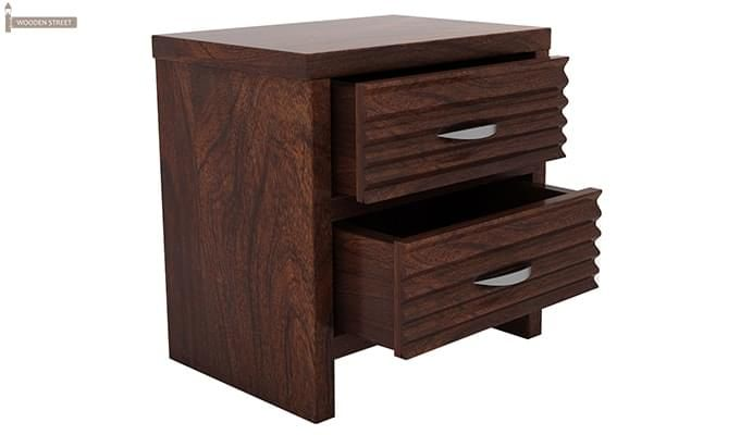 Gayle Bedside Table (Walnut Finish)-5