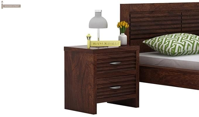 Gayle Bedside Table (Walnut Finish)-1