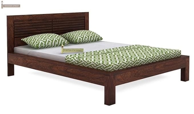 Gayle Bed Without Storage (Queen Size, Walnut Finish)-3