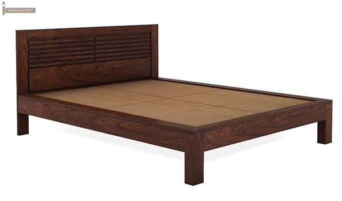 Gayle Bed Without Storage (Queen Size, Walnut Finish)-4