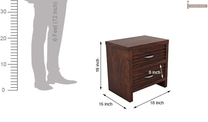 Gayle Bedside Table (Walnut Finish)-6