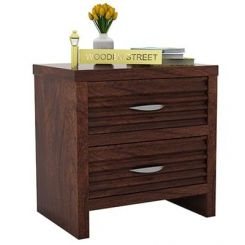 Gayle Bedside Table (Walnut Finish)