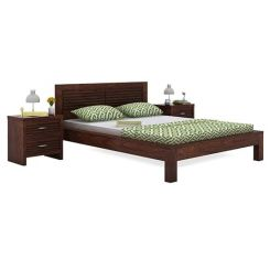 Gayle Bed Without Storage (Queen Size, Walnut Finish)
