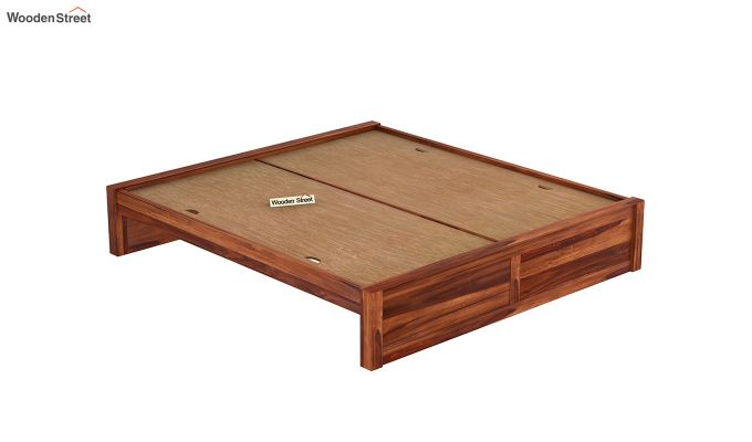 Hayden Bed Without Storage (King Size, Honey Finish)-6