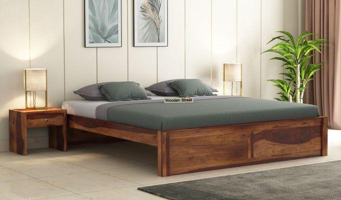 Hayden Bed Without Storage (King Size, Teak Finish)-1