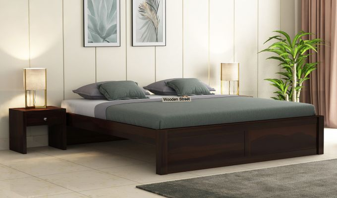 Hayden Bed Without Storage (King Size, Walnut Finish)-1