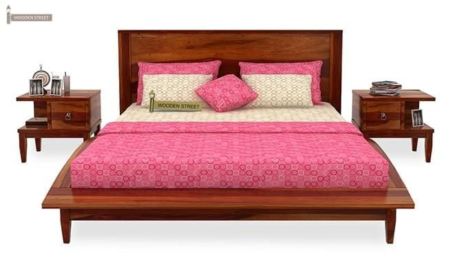 Helix Bed (Queen Size, Honey Finish)-3
