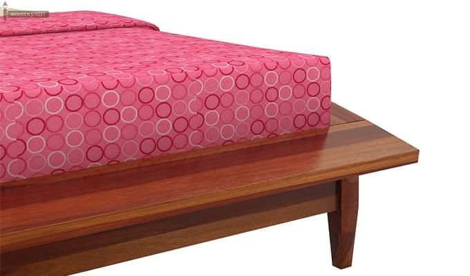 Helix Bed (King Size, Honey Finish)-6