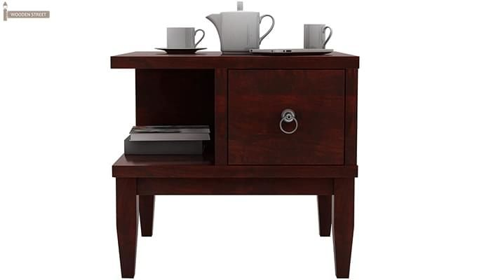 Helix Bedside Table (Mahogany Finish)-6
