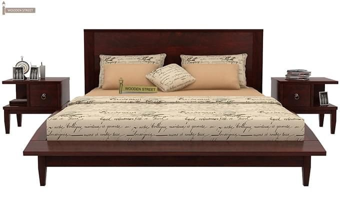 Helix Bed (Queen Size, Mahogany Finish)-2