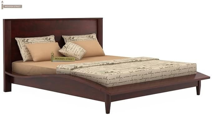 Helix Bed (Queen Size, Mahogany Finish)-3