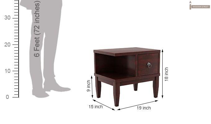 Helix Bedside Table (Mahogany Finish)-7