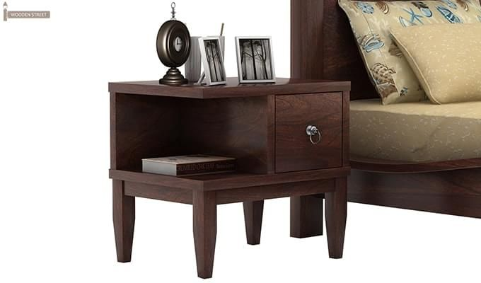 Helix Bedside Table (Walnut Finish)-1