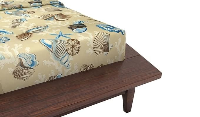 Helix Bed (Queen Size, Walnut Finish)-6