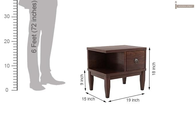 Helix Bedside Table (Walnut Finish)-6