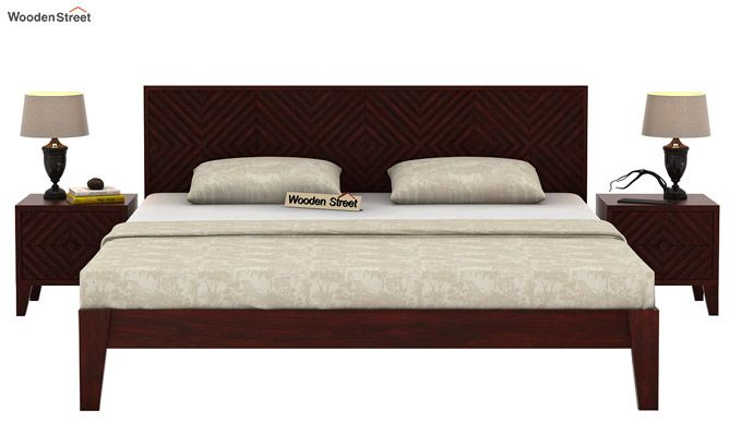 Horton Bed Without Storage (Queen Size, Mahogany Finish)-3